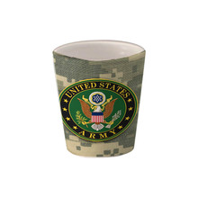 Army Crest on ACU - 1.5oz. Ceramic Shot Glass