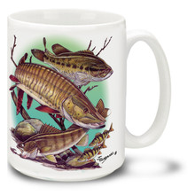Freshwater Fishing Favorites Muskie, Walleye and Bass - 15oz Mug