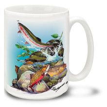 Freshwater Fishing Favorites Trout Variety - 15oz Mug