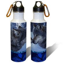 Muzzle Nuzzle Gray Wolves - 22oz. Stainless Steel Water Bottle