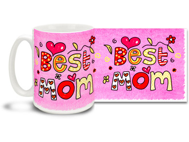 Simply stated, Mom is simply the best! Great gift for Mother's Day or anytime you want to let your mom know she's special. Childlike style worthy of the finest refrigerator and pleasant pink background on this 15 oz Best Mom with Pink Background mug will make this dishwasher and microwave safe coffee cup a morning favorite!