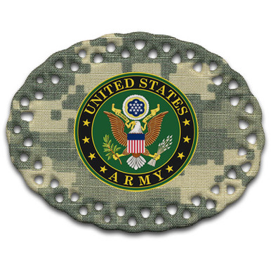 Army Crest on ACU - Ceramic Christmas Ornament
