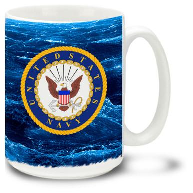 United States Navy Crest on 15oz. Mug