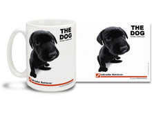 "Get up close and personal with your favorite dog breeds with ""The Dog"" mug featuring the popular Labrador Retriever! Labrador lovers know these fine dogs are kind, pleasant and outgoing. Colorful 15oz The Dog Labrador Retriever coffee mug is dishwasher and microwave safe."