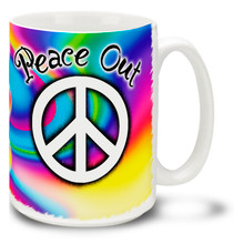 Peace Out - 15 oz Coffee Mug