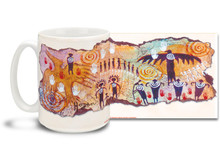 Interact with the spirit world and transcend the everyday with this Flight of the Shaman mug. Vivid colors on this Flight of the Shaman Coffee Mug is sure to make this dishwasher and microwave safe cup a favorite!