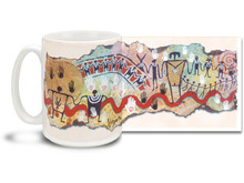 We're all brothers and sisters, and sometimes it's good to have a little reminder handy like this We Are All Related Native American themed coffee mug. Cheery colors and festive design on this We Are All Related Coffee Mug is sure to make this dishwasher and microwave safe cup a favorite!