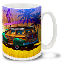 Retro Surf Woody - 15 oz. Mug