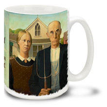 American Gothic - Grant Wood - 15 oz Coffee Mug