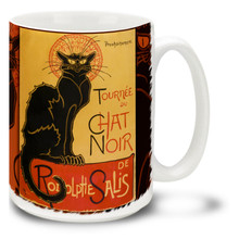 Théophile Steinlen - Tour of Le Chat Noir's Troupe poster 1896 - 15 oz Coffee Mug