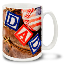 Dad with Glove and Baseball -  15oz Mug