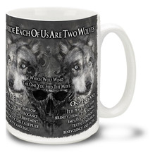Two Wolves Inside Us - 15oz Mug