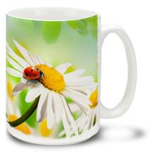 Daisies with Ladybug - 15 oz Mug