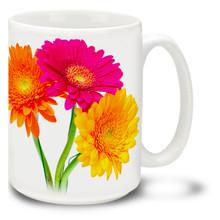 Gerber Daisies - 15 oz Mug