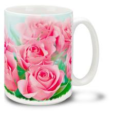 Pink Roses - 15 oz Mug