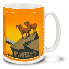 WPA Poster National Parks Preserve Wildlife - 15 oz Coffee Mug