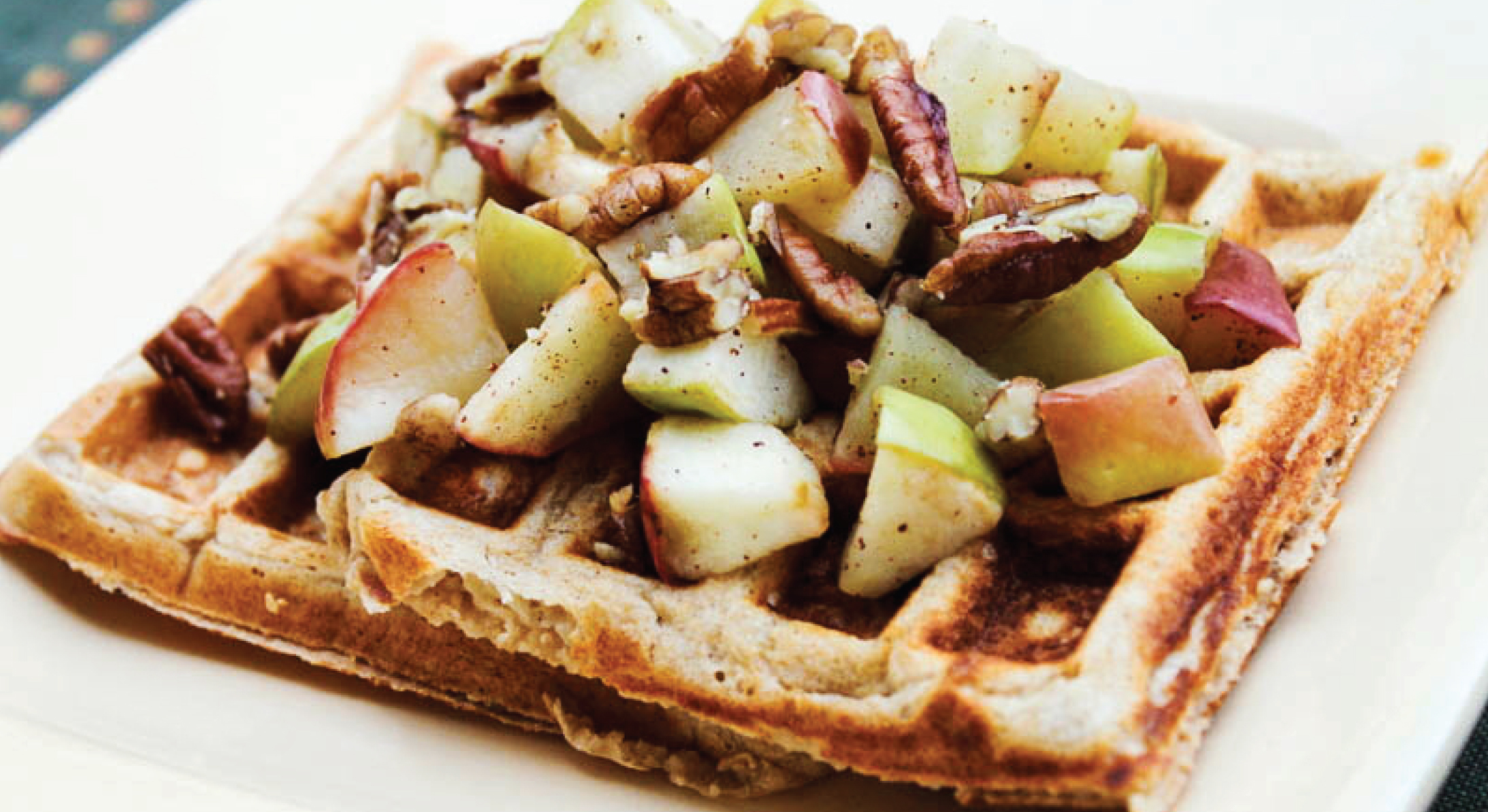Shiloh Farms Sprouted Wheat Cinnamon-Apple Waffles