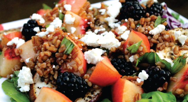 Shiloh Farms Bulgur Wheat Salad with Peaches & Blackberries