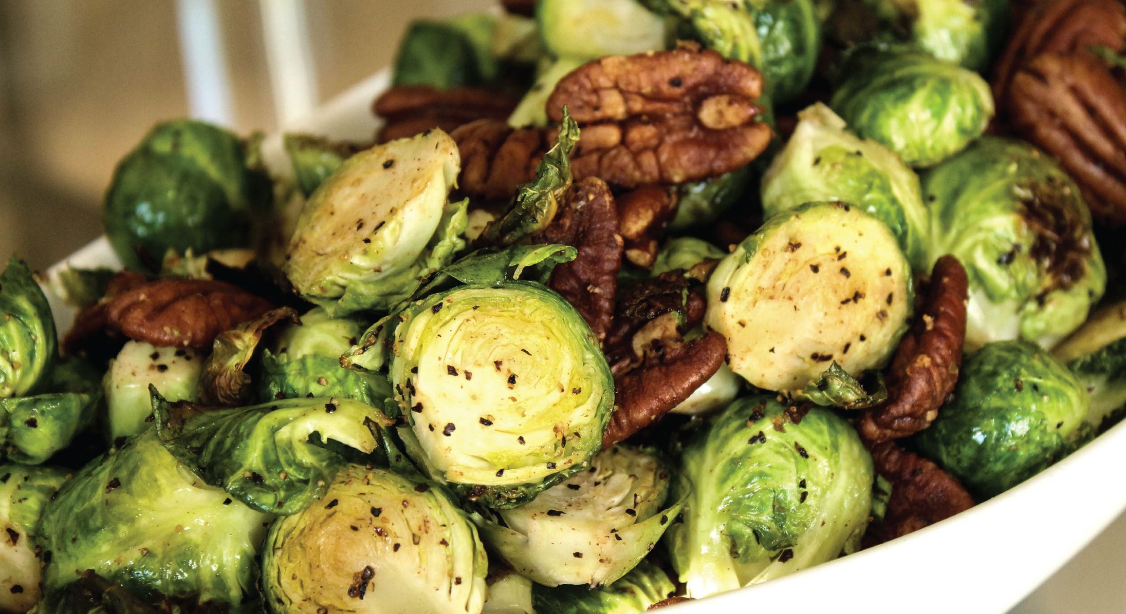 Shiloh Farms Maple Roasted Brussel Sprouts with Pecans