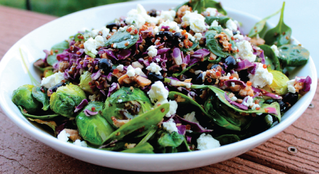 Shiloh Farms Quinoa & Brussel Sprout Salad with Goat Cheese