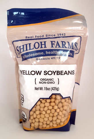 Yellow Soybeans, Organic 15 oz