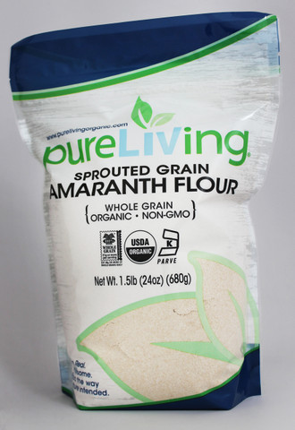 PureLiving Sprouted Amaranth Flour / Organic, Kosher, Non-GMO, Whole Grain, Raw