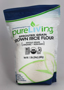 PureLiving Sprouted Brown Rice Flour / Organic, Kosher, Non-GMO, Whole Grain, Raw
