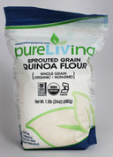 PureLiving Sprouted Quinoa Flour / Organic, Kosher, Non-GMO, Whole Grain, Raw