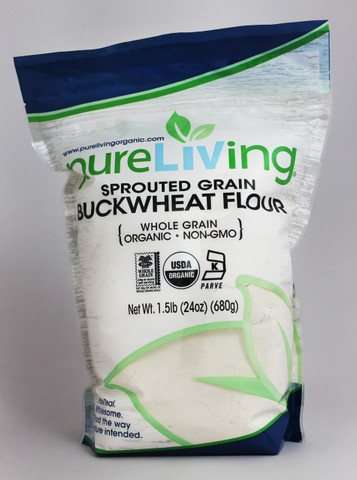 PureLiving Sprouted Buckwheat Flour / Organic, Kosher, Non-GMO, Whole Grain, Raw