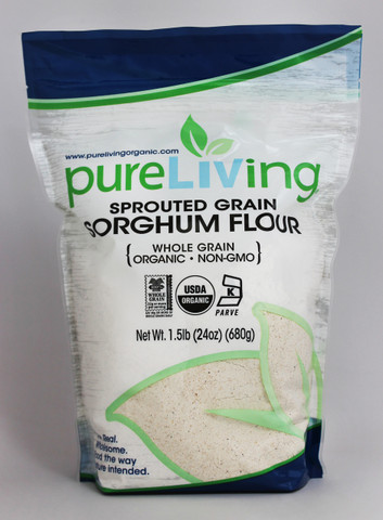 PureLiving Sprouted Sorghum Flour / Organic, Kosher, Non-GMO, Whole Grain, Raw