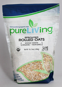 PureLiving Sprouted Rolled Oats / Organic, Kosher, Non-GMO, Whole Grain, Raw