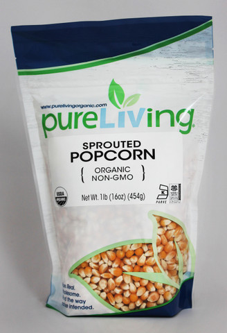PureLiving Sprouted Popcorn / Organic, Kosher, Non-GMO, Whole Grain, Raw