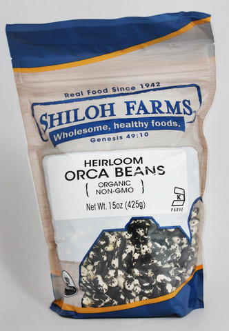 Shiloh Farms Organic Heirloom Orca Beans