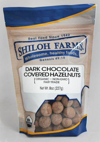 Shiloh Farms Organic Dark Chocolate Covered Hazelnuts