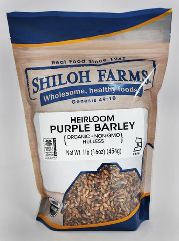 Shiloh Farms Organic Heirloom Hulless Purple Barley