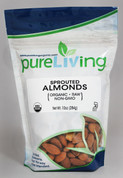 PureLiving Sprouted Almonds / Organic, Kosher, Non-GMO, Raw