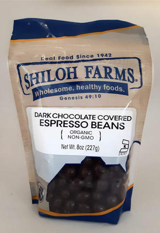 Shiloh Farms Organic Dark Chocolate Covered Espresso Beans