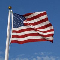 5'x9 1/2' 100% 2Ply Polyester U.S. Flag