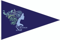 "12x18"" Women Who Sail full color burgee"