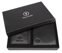 Men's Travami RFID Blocking Wallet Gift Set | Black