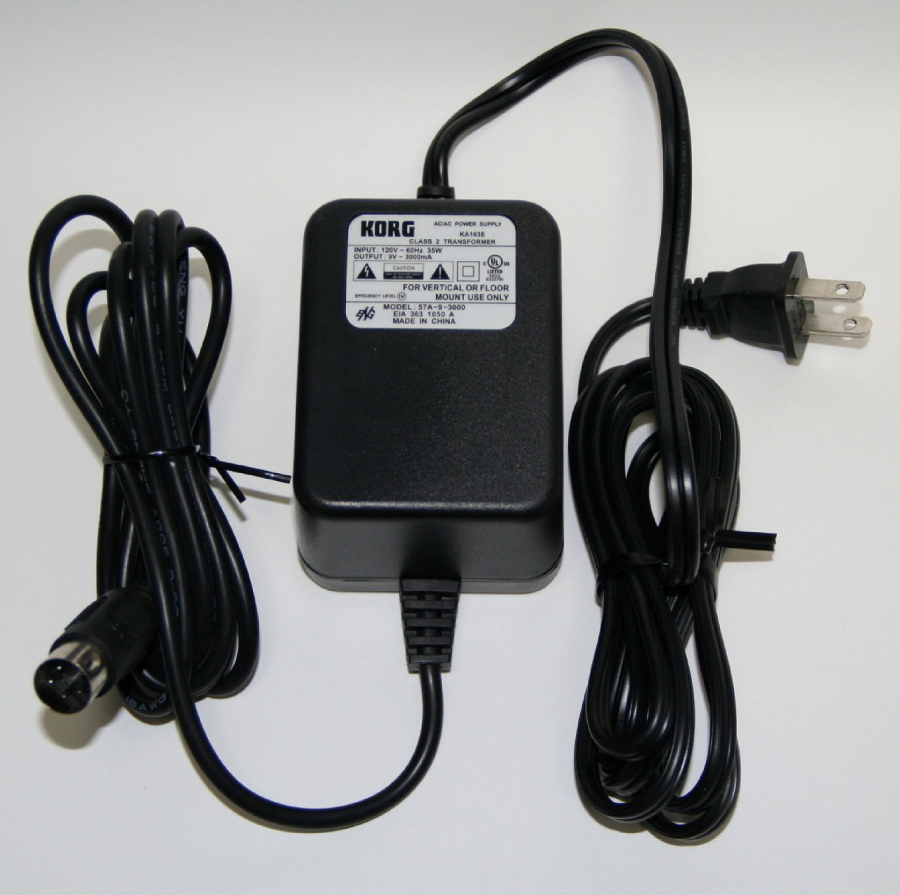 Korg Ka163 Ac Adapter Replacement Not Oem 9v 3500 Ma For Sp500 Power Supply 9vdc No Transformer Image 1