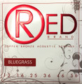 Red BLUEGRASS -style gauges 99% Copper Acoustic Guitar Strings 7323