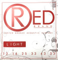 Red LIGHT 99% Copper Acoustic Guitar Strings 7312