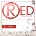 Red LIGHT 99% Copper Acoustic Guitar Strings 7312