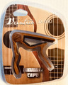 Veintico JX09U Capo for Ukulele and other small instruments - dark wood look