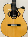 Merida Overstep solid spruce, ovangkol acoustic-electric OM body Classical Guitar