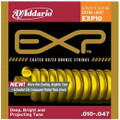 D'Addario EXP 10 Coated 80/20 Bronze Medium Acoustic Guitar Strings