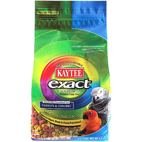 Kaytee Exact Rainbow Complete Food for Parrots & Conures 2 Sizes