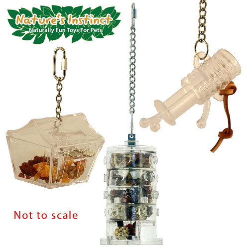 Nature's Instinct Foraging Parrot Toys Kit