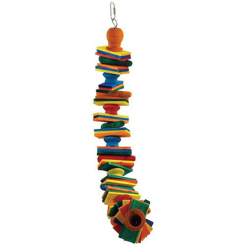 Block Spiral Parrot Toy - Medium
